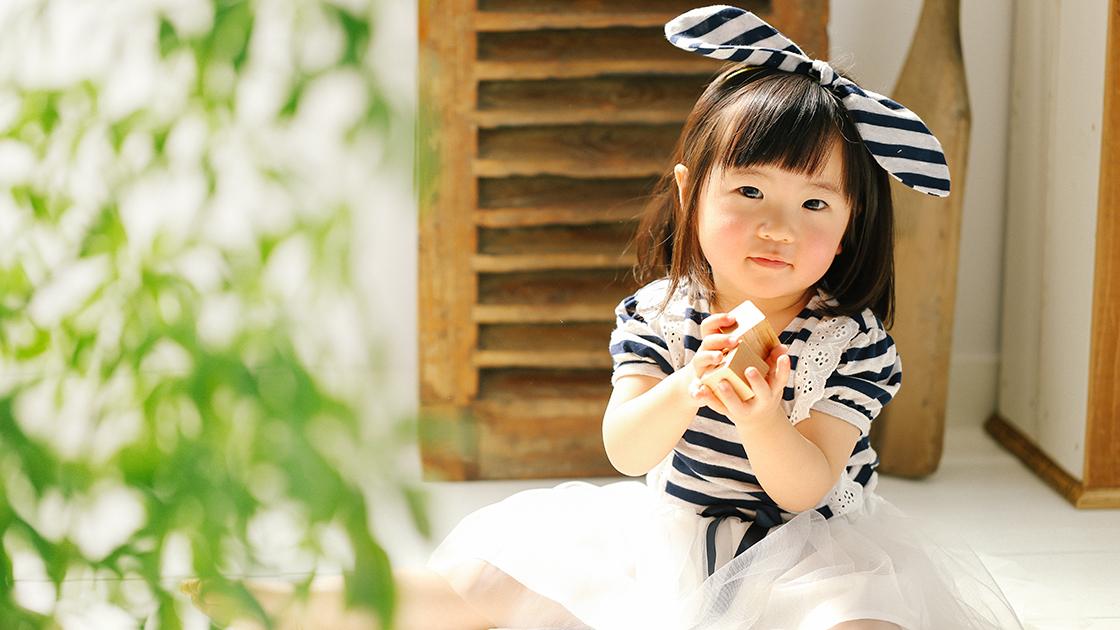 1歳のお誕生日の女の子
