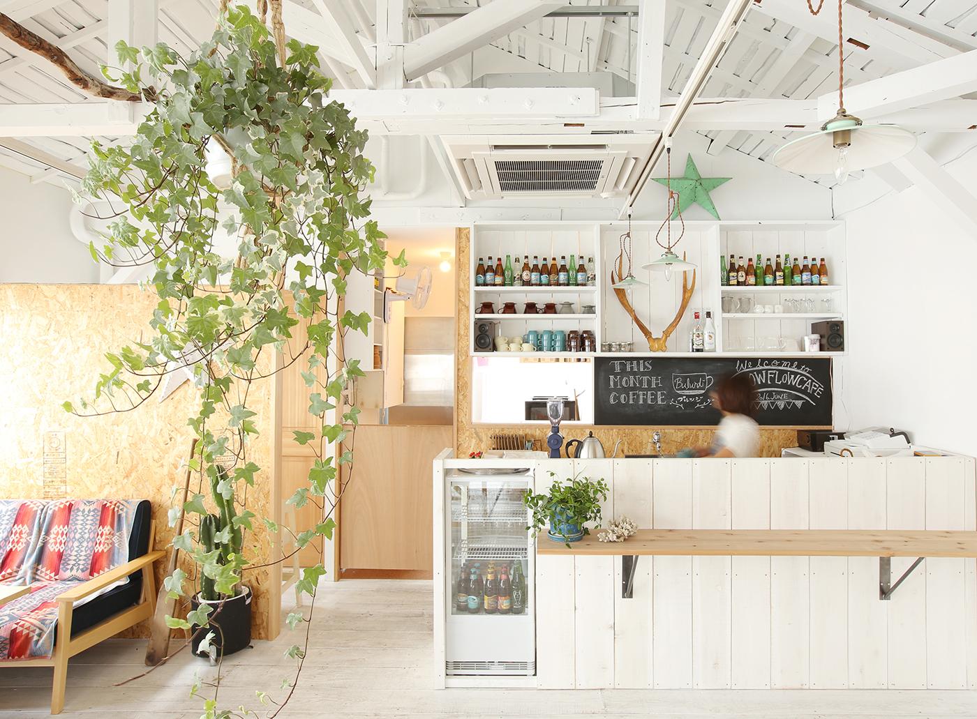 カフェを改装したスタジオ